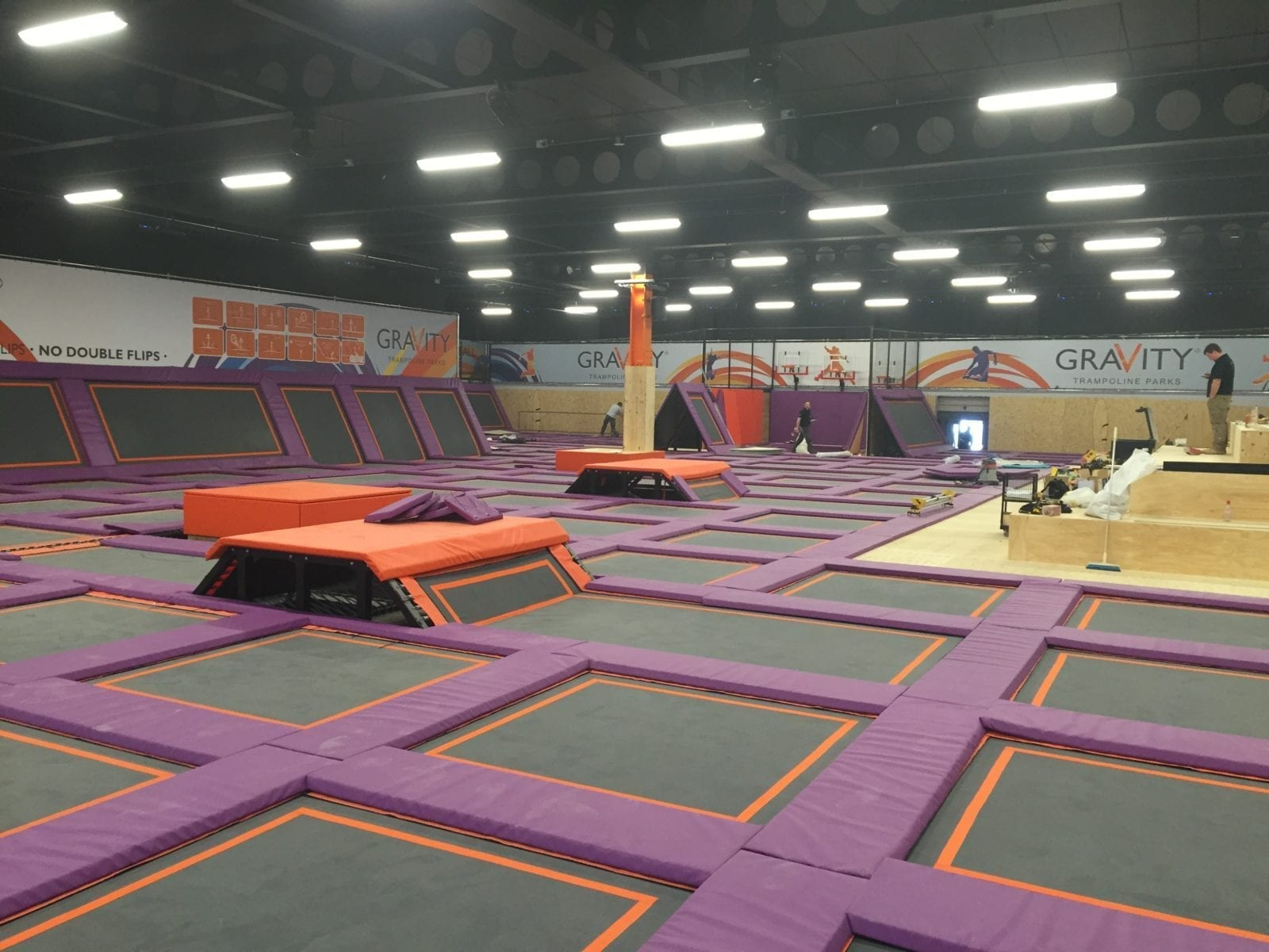 Epoxy Floor Coating Commercial Decorations Trampoline Park