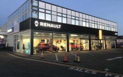 Car showroom spraying – Holden Renault gets a makeover