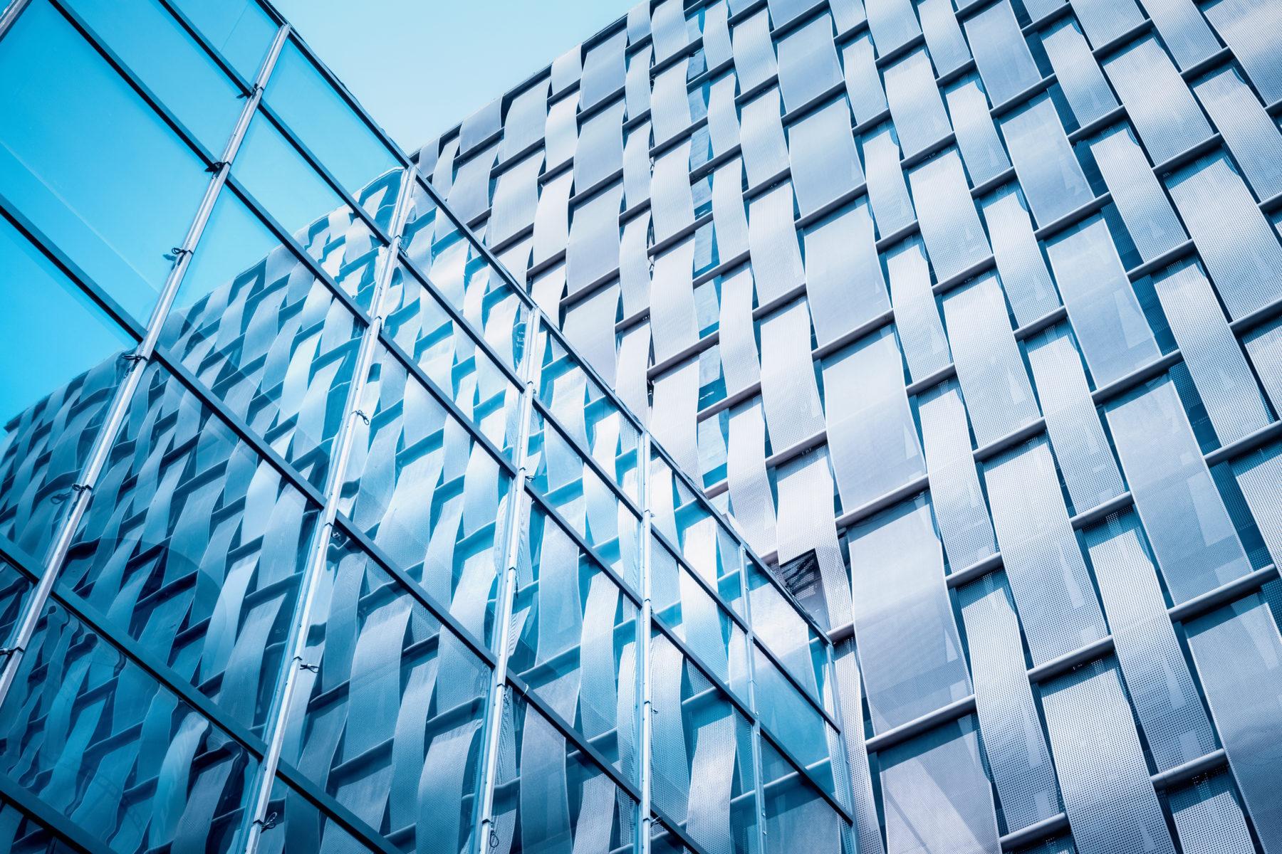 modern building exterior wall closeup