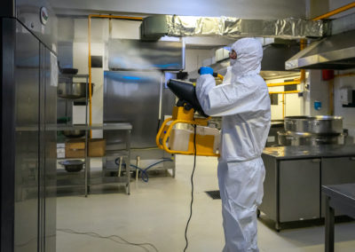 Disinfectant spraying