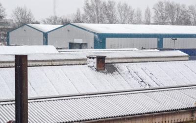 Industrial Roof repairs in winter